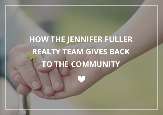 how the Jennifer Fuller Realty team gives back to the community